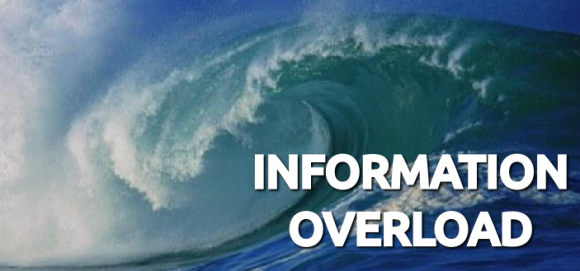 Information Overload Crashing Wave