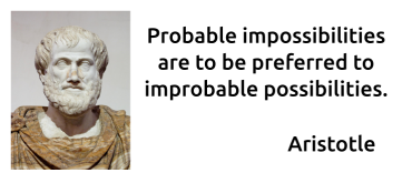 Aristotle - Probable impossibilities preferred to improbable possibilities