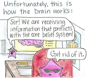 Unfortunately this is how the brain works
