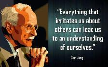 Carl Jung - Everything that irritates is about others can lead us to an understanding of ourselves.