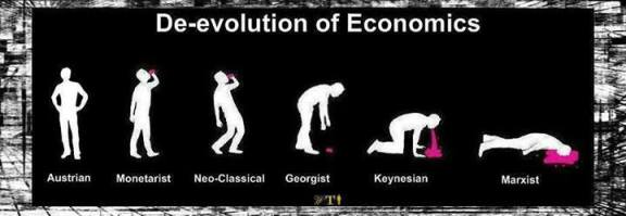De-evolution of Economics - Austrian - Monetarist - Neo-Classical - Georgist - Keynesian - Marxist