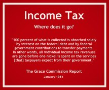 Income tax - Where does it go?