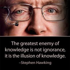 Stephen Hawking - The greatest enemy of knowledge is not ignorance, it is the illusion of knowledge.
