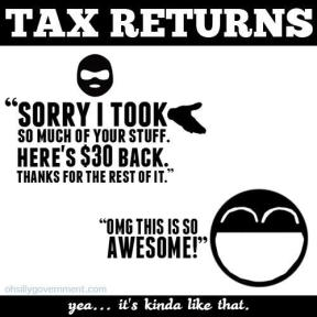 Tax returns - yea it's kinda like that