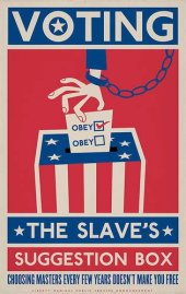 Voting - the slave's suggestion box. Choosing masters every few years doesn't make you free.