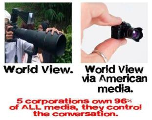 World view - World view via American media