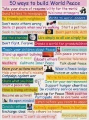 50 ways to build World Peace