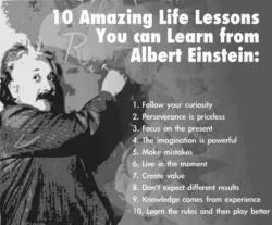 Albert Einstein - 10 Amazing Life Lessons You can Learn from Albert Einstein: